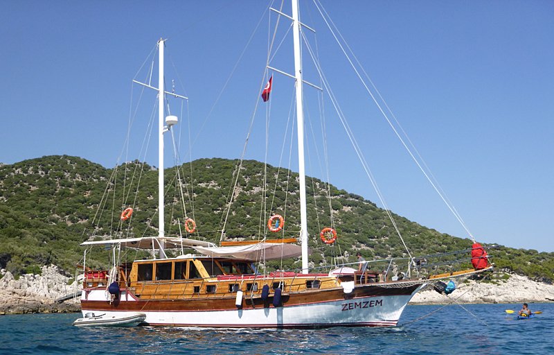 Turkish gulet, a converted fishing boat