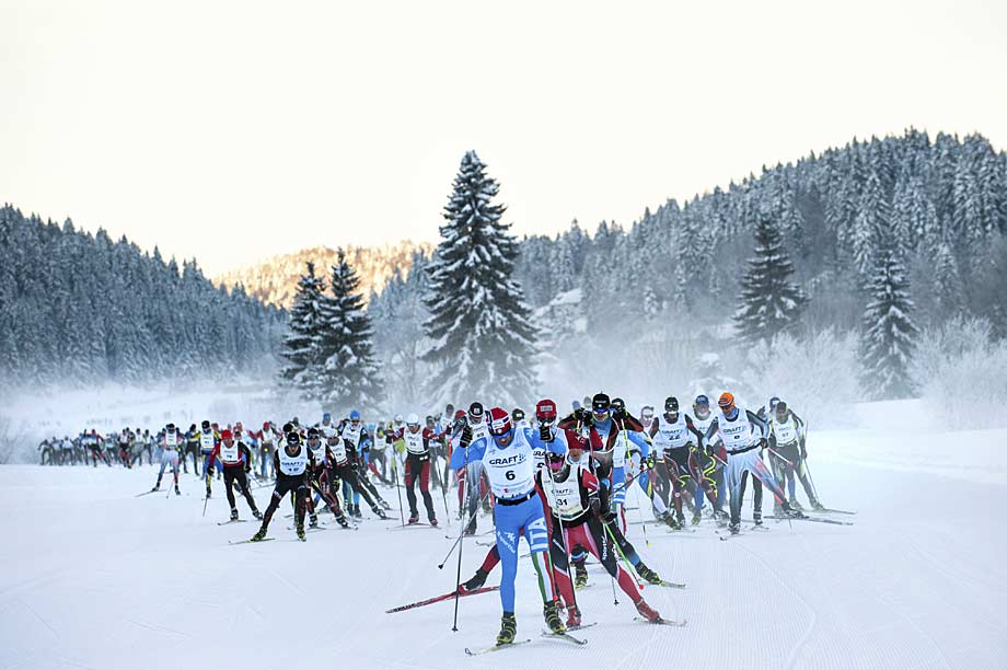 Transjurassienne ski race at 76 km