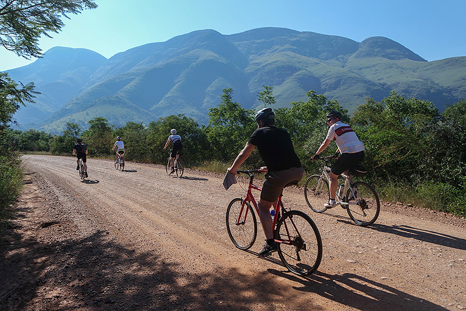 Cyclists in South Africa