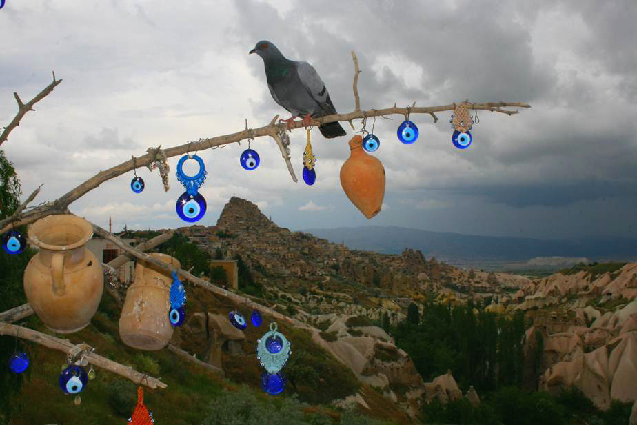 Evil eyes in Cappadocia, central Turkey