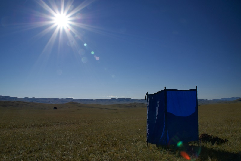 Loo with a view mongolia