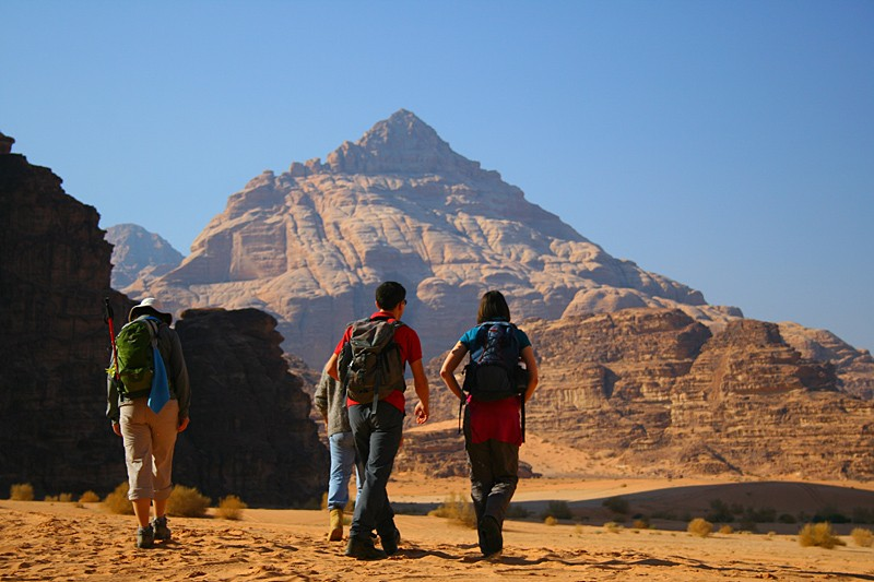 Walking in Wadi Rum, Jordan