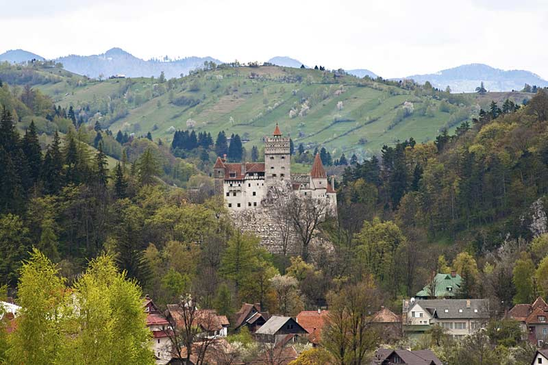 Bran Castle in summer