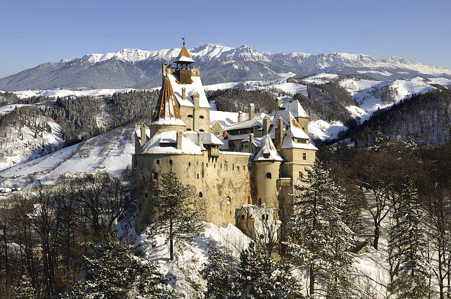 Bran Castle in winter