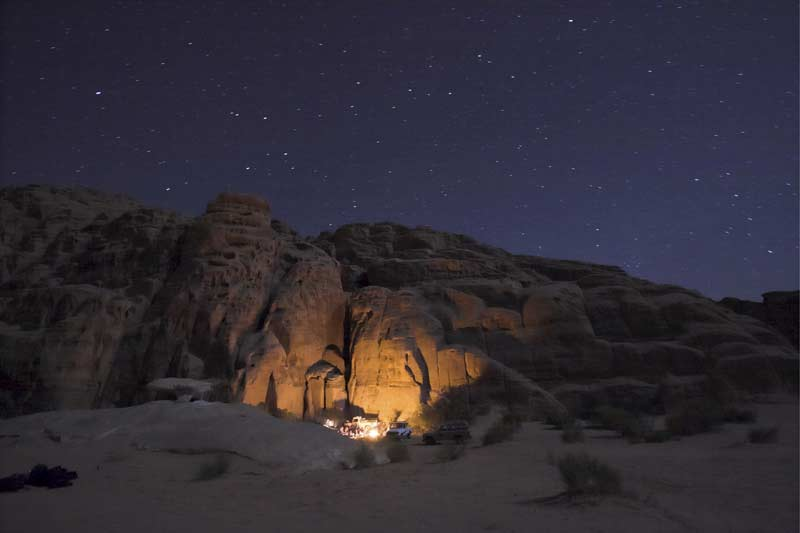 Camping in the desert like the Bedouin tribe has done for generations