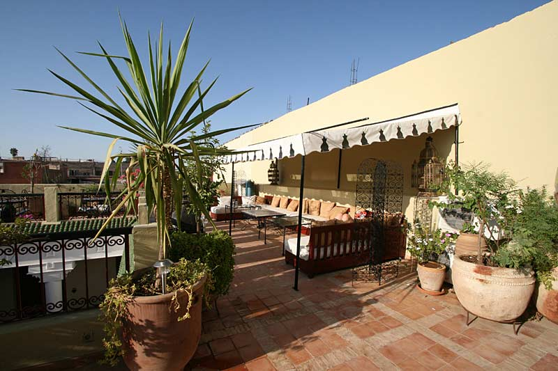 Roof terrace in Morocco