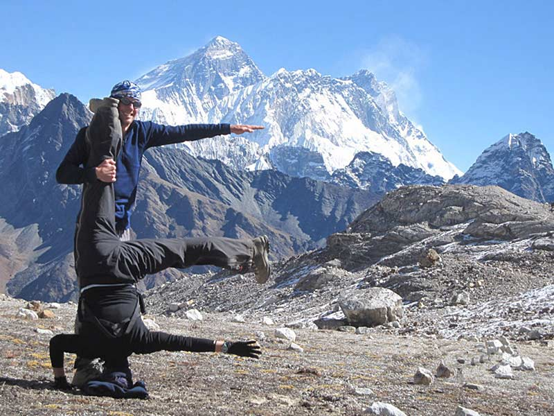 On trek to Everest Base camp