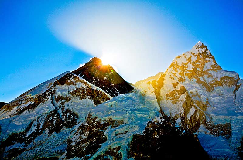 Sunrise in the Himalaya