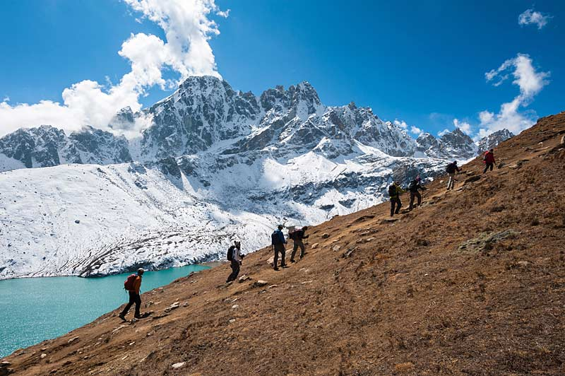 Trekkers in the Gokyo