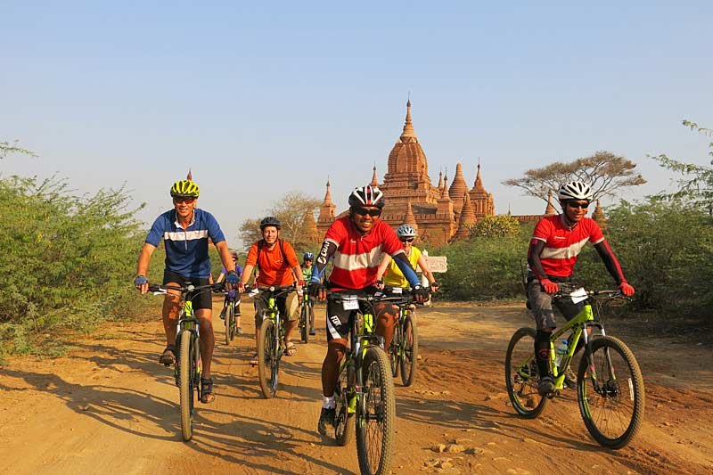 Cycling in Bagan - photo taken by Megan