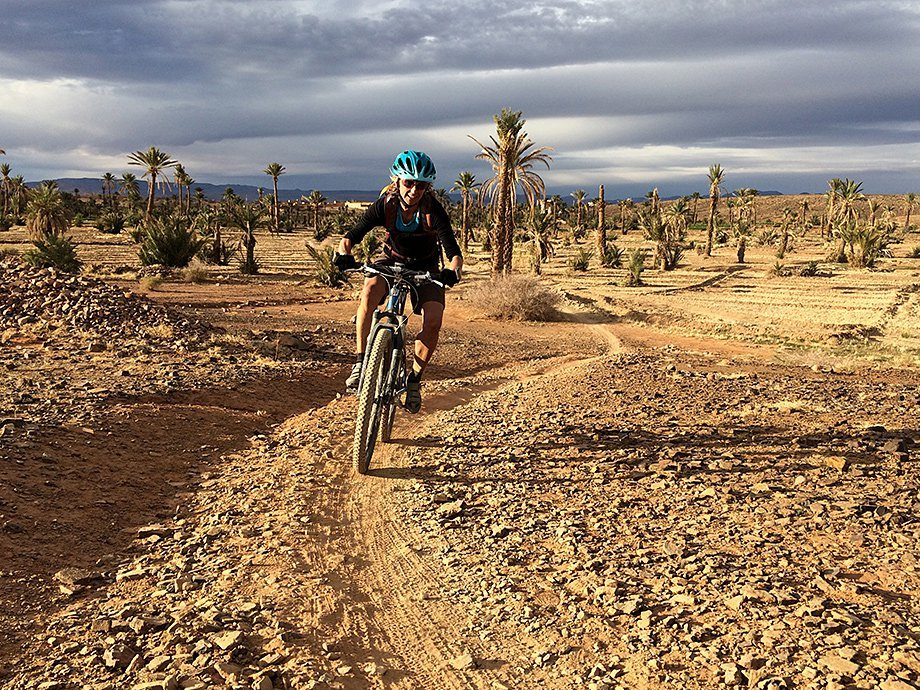 Cycling off road in Morocco