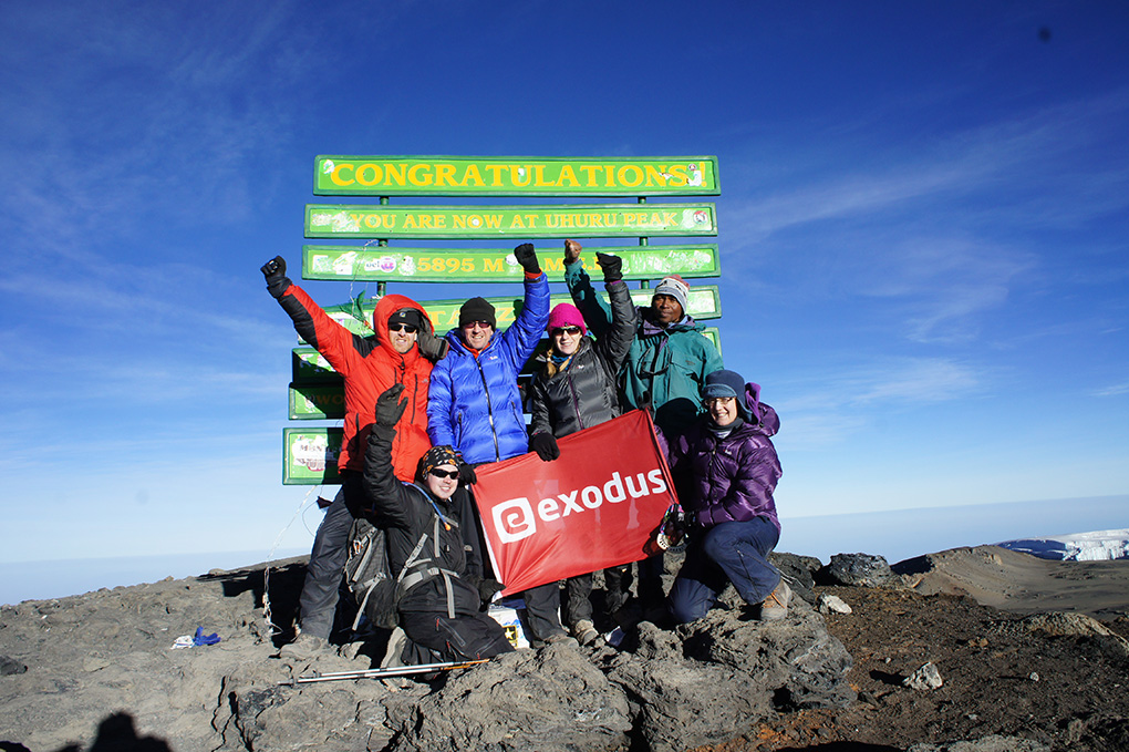 Summit shot on Kilimanjaro