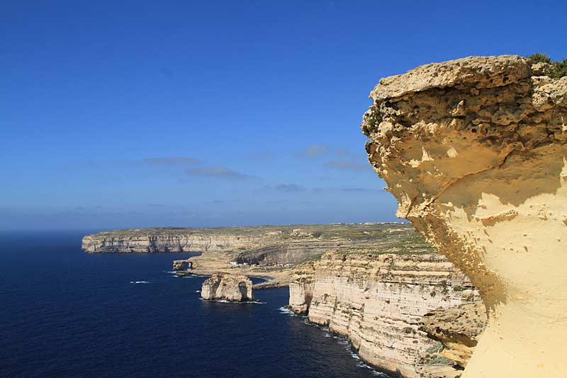 Gozo coastline, Xlendi Bay in the distanceGozo coastline, Xlendi Bay in the distance