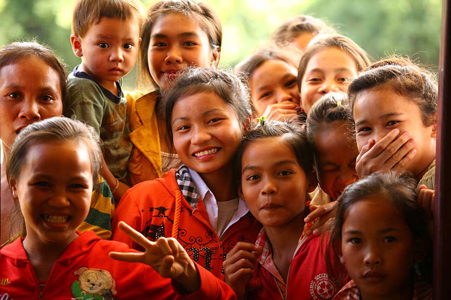 School children, Laos