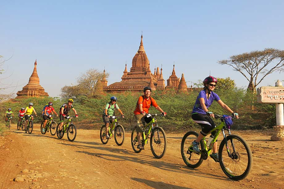 Cycling in Bagan, Myanmar/Burma
