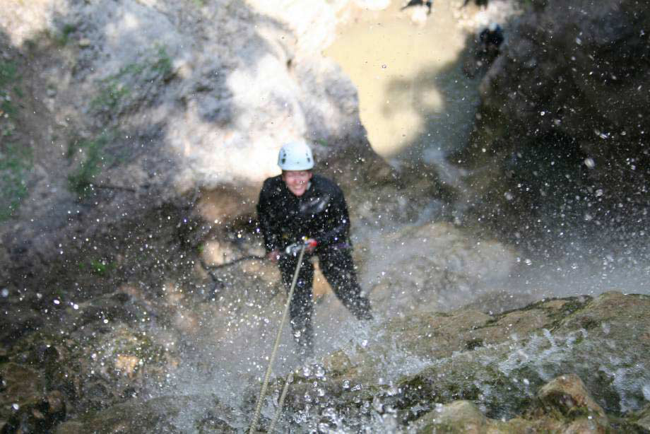 Trying canyoning
