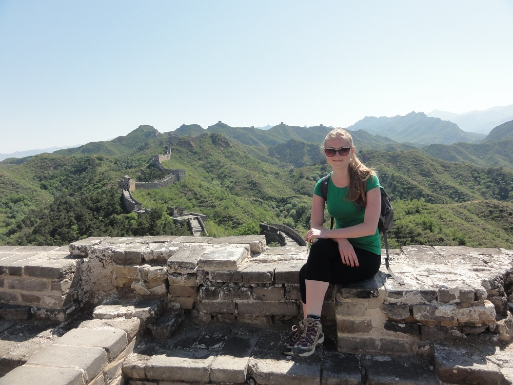 Solo traveller on the Great Wall of China