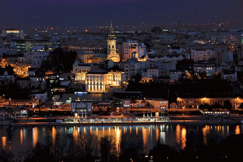 Belgrade by night