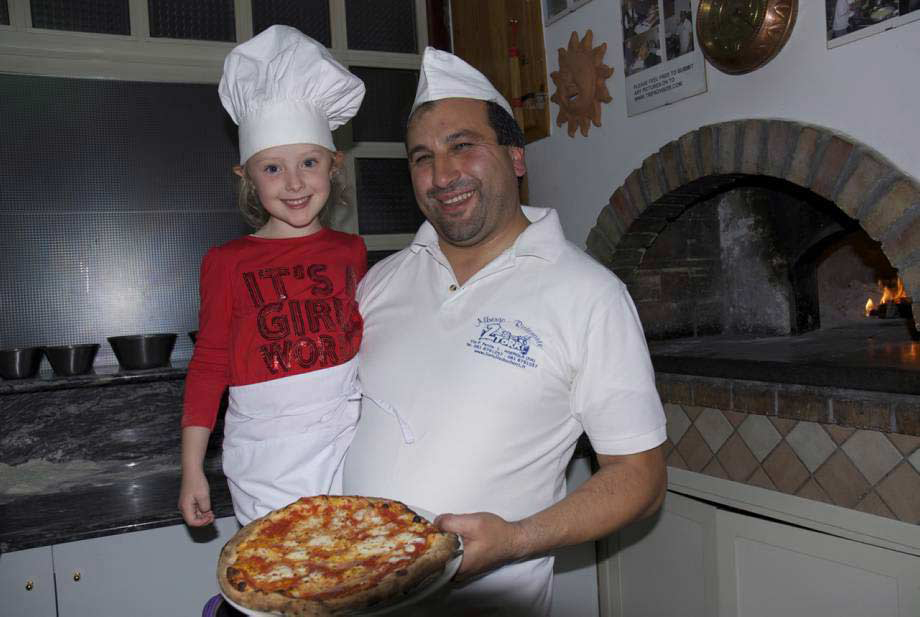 Pizza making with your Italian hosts