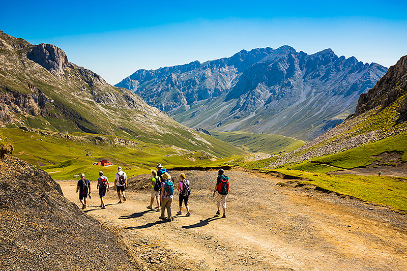 Hikers in the Picos de Europa