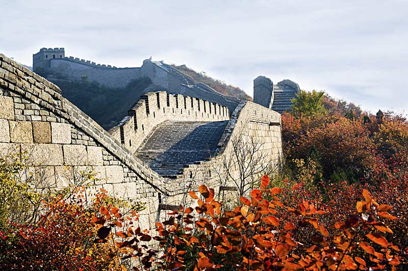 Autumn reaches the Great Wall of China