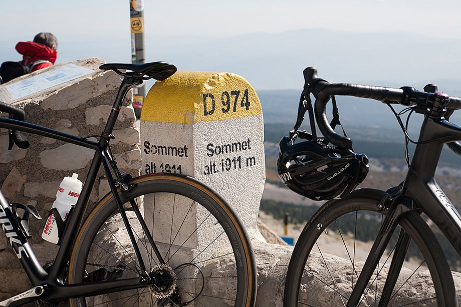 Bikes on Mont Ventoux