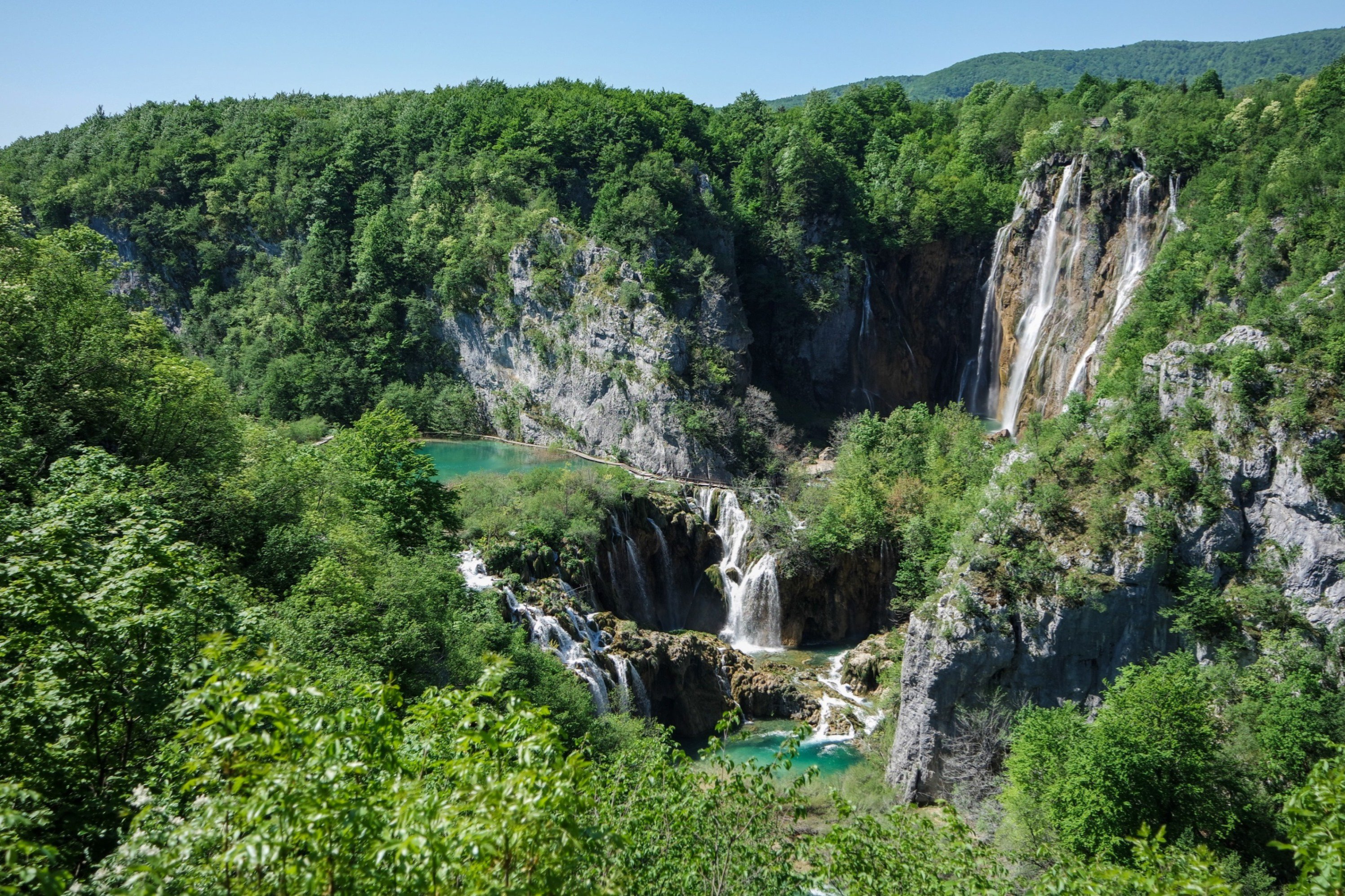 Waterfalls in Plitvice Lakes N.P, Croatia