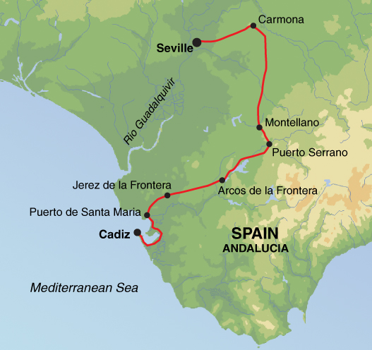 Self guided Cycling in Andalucia Seville to Cadiz