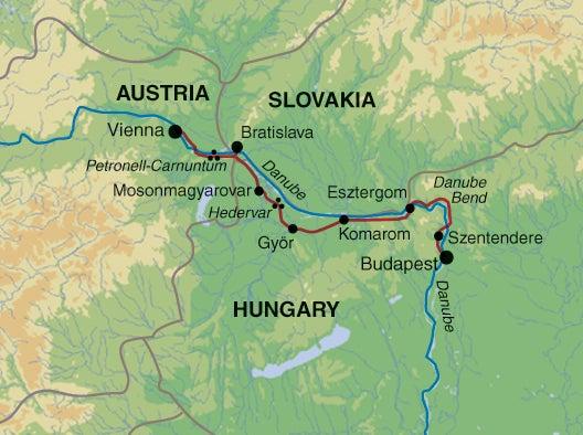 Danube Bike Trail Map on