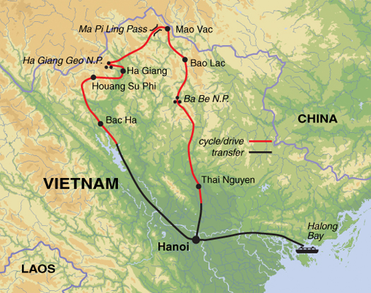 Mountains In Vietnam Map.Cycle The Hilltribes Of Vietnam Guardian Holidays