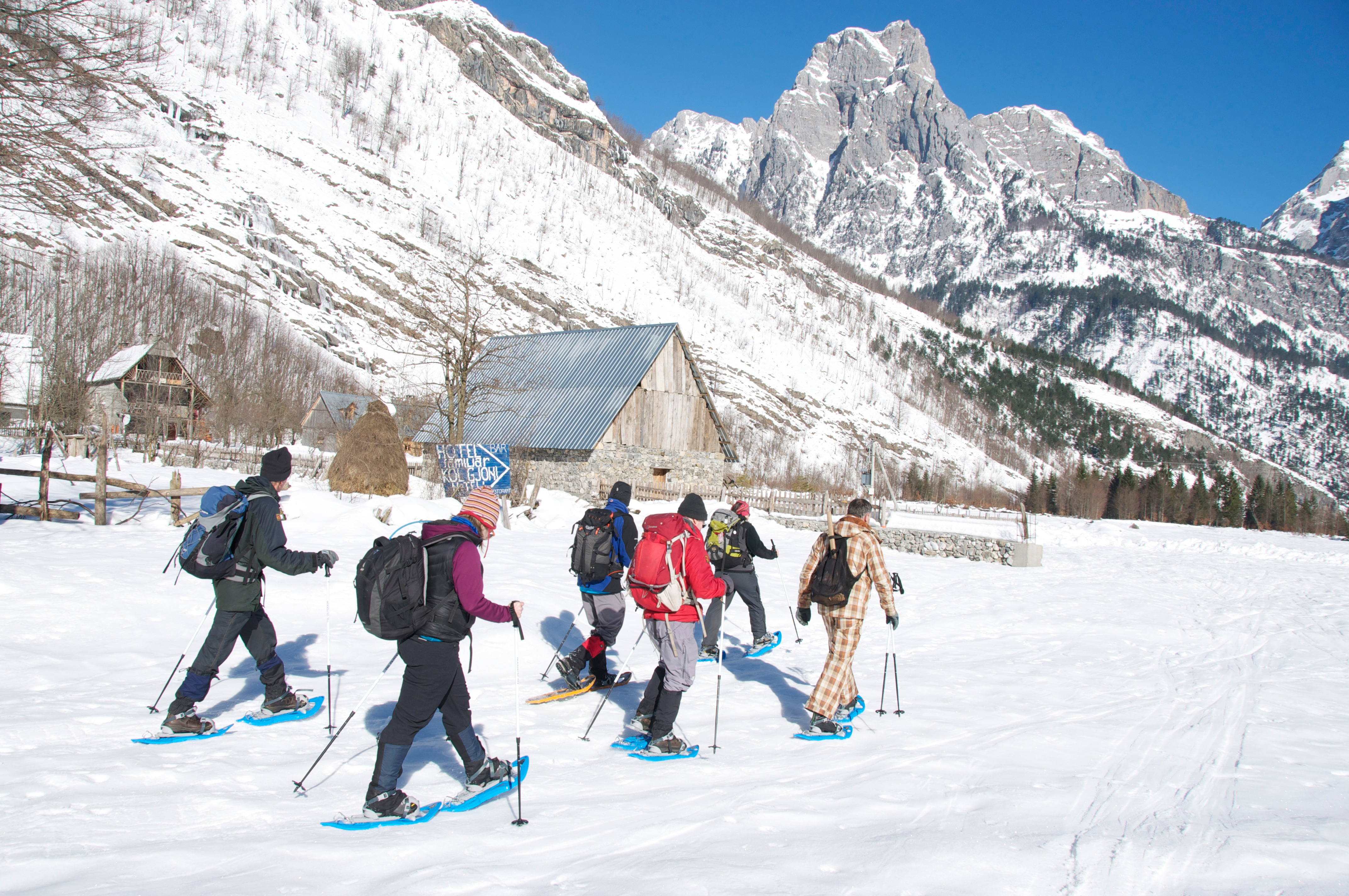 Snowshoeing in Albania