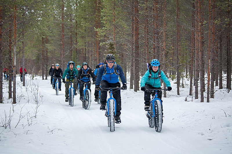 Fat biking in Finland