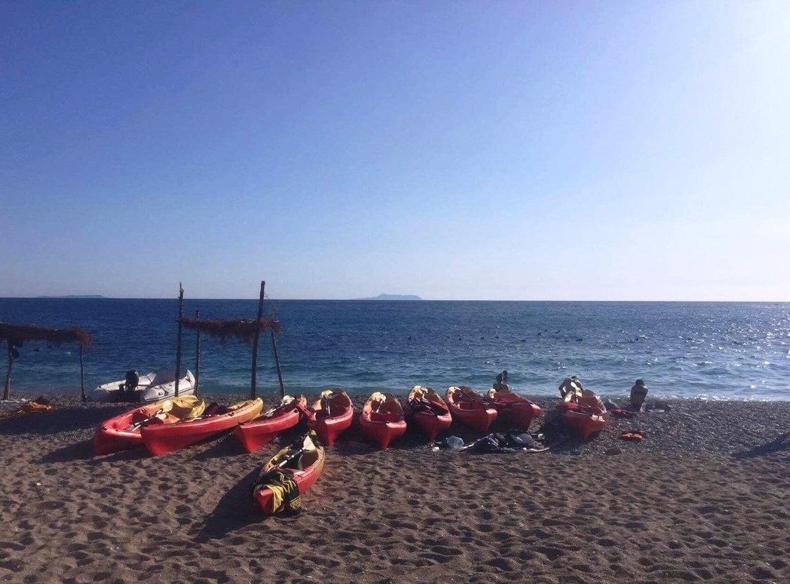 Kayaks at Jali Beach