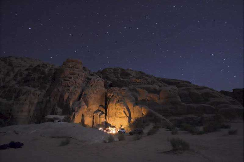 Camping in the desert like the Bedouin tribe