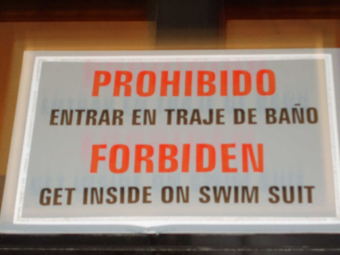 sign in a Havana hotel!