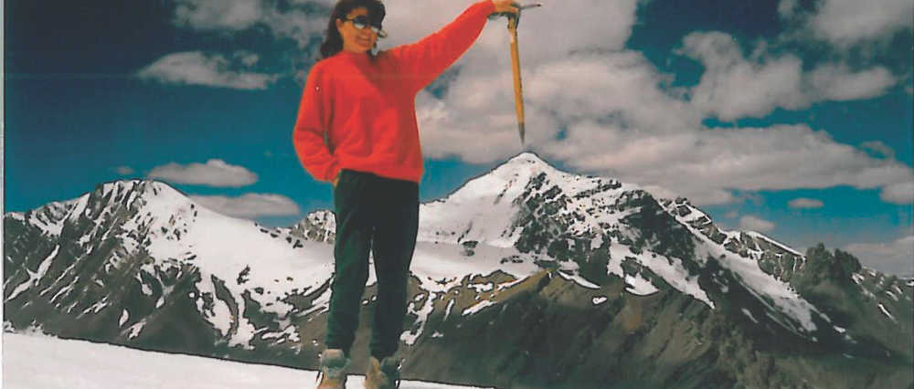 Valerie on Stok Kangri