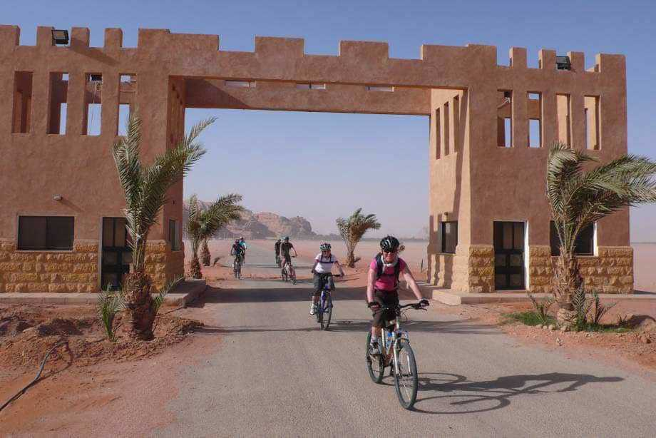 Cycling from the Wadi Rum Visitors Centre
