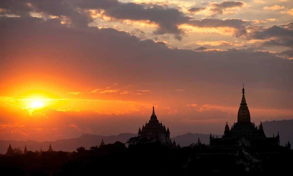 sunset in burma