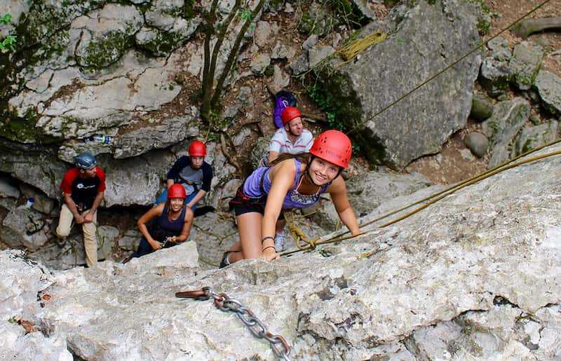 Rock climbing in the Ardeche