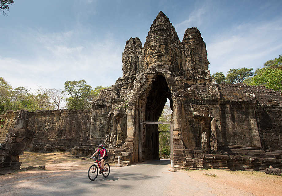 Cyclists, Angkor