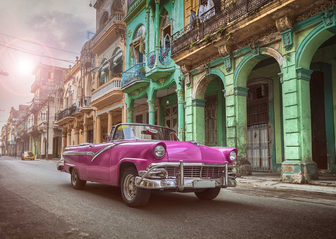 Classic car in a Cuban street, Havana