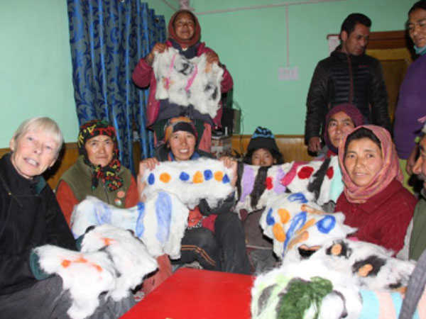 Felting Workshop, Ladakhi Village