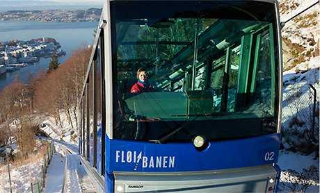 Bergen Funicular Railway, Norway