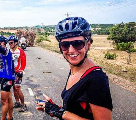 Meg on an altogether more relaxed biking adventure in Burma