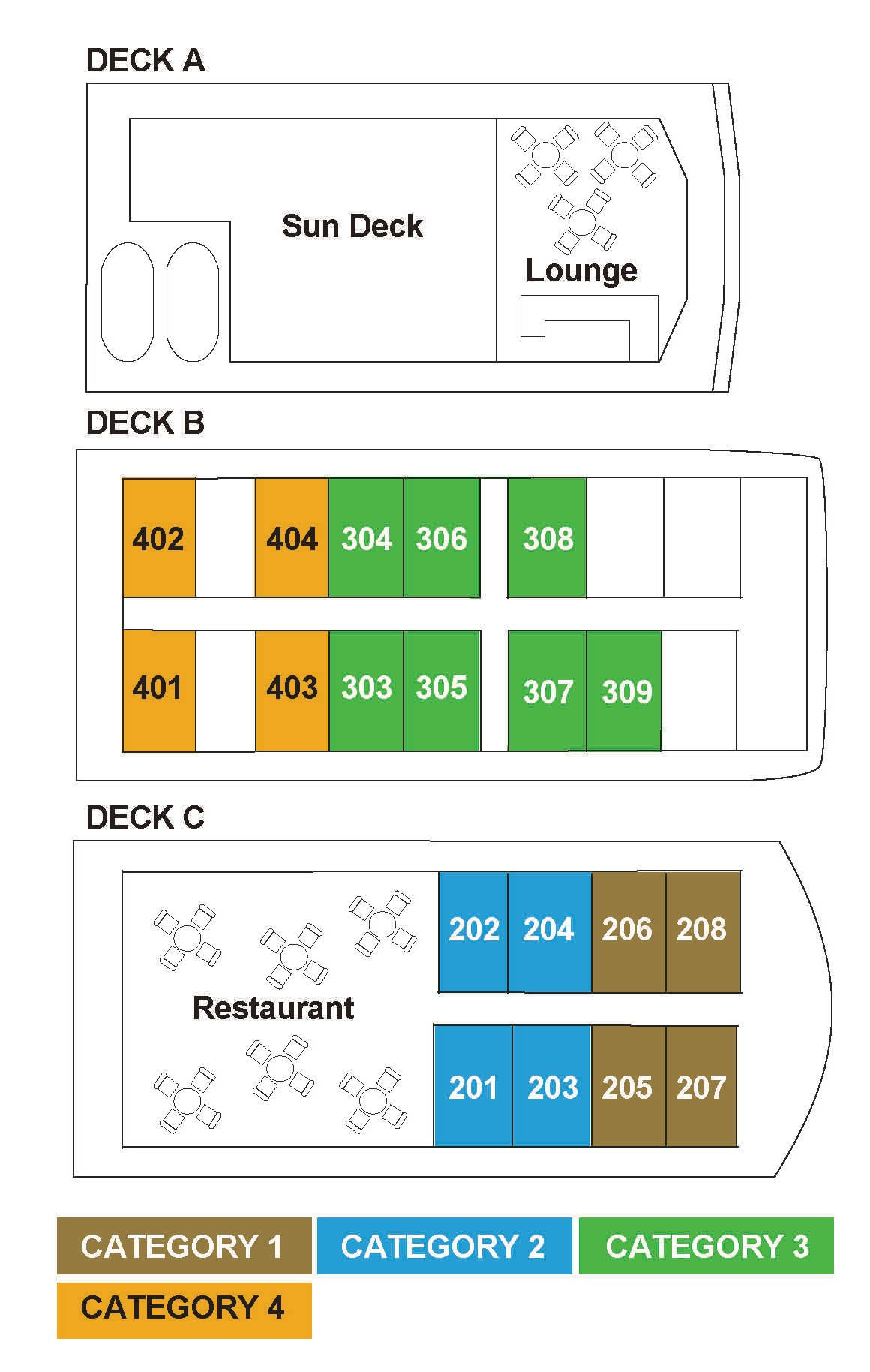 Coral Expedition deck plan