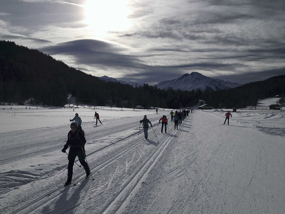 Skiing in Seefeld