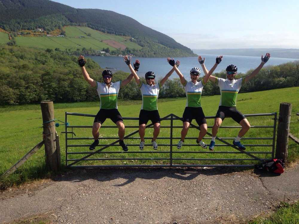 Our LEJOG team's spirits are still high even on day 9!