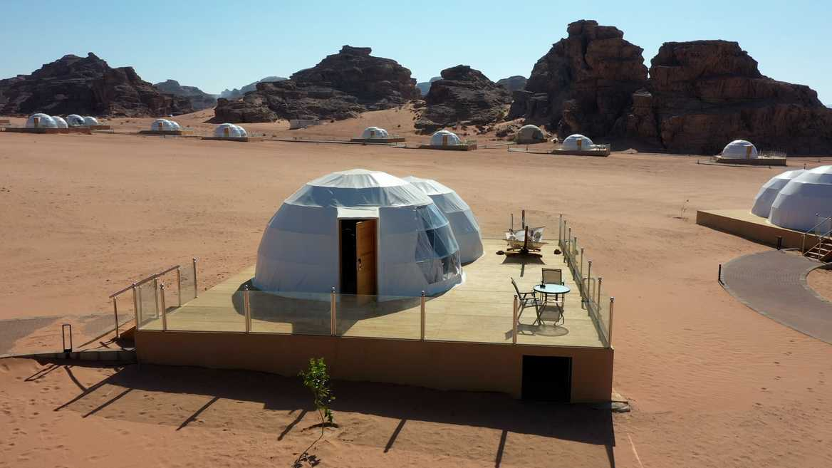 Wadi Rum UFO camp in Jordan