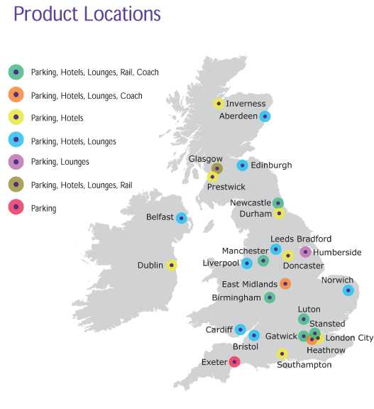 Holiday Extras Locations