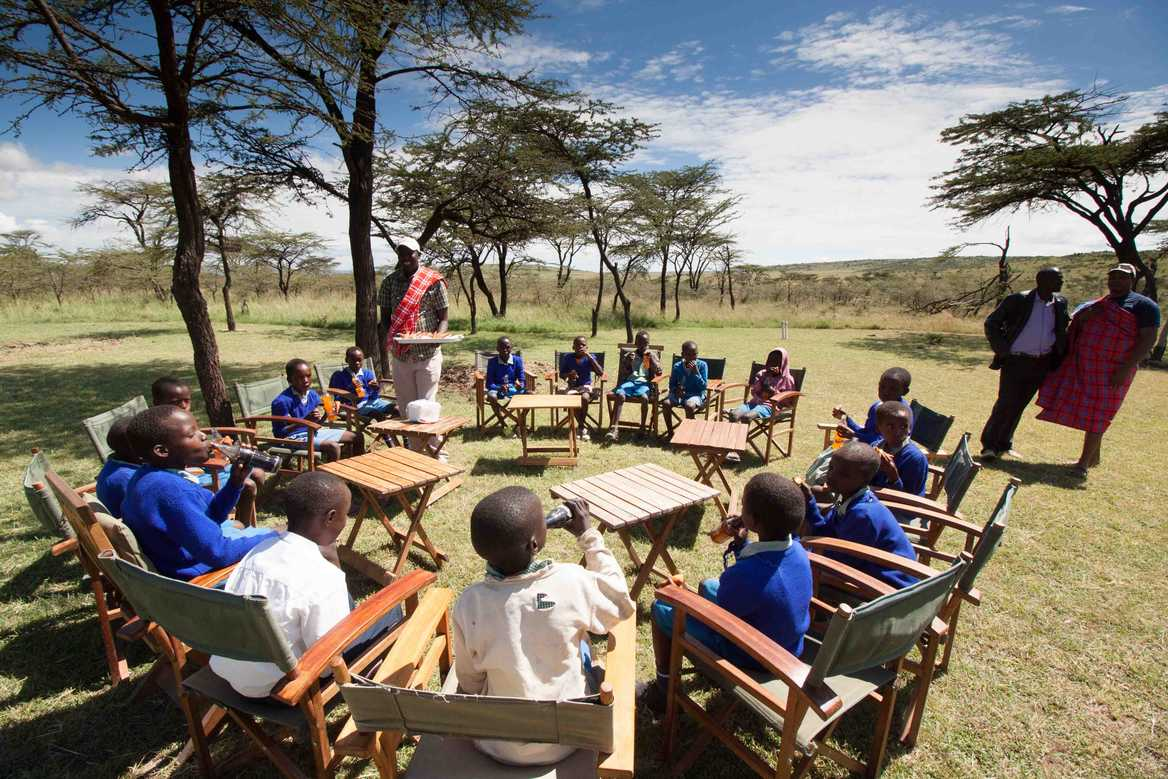 School children in Masai Mara